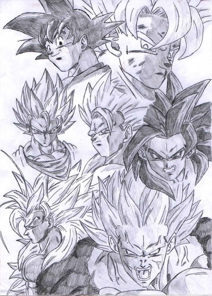 Dibujos A Lapiz De Dragon Ball Z Faciles