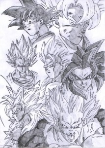 dibujos a lapiz de dragon ball z faciles (1)