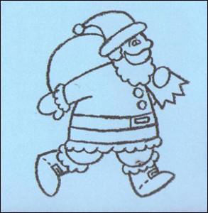 dibujos a lapiz de papa noel (1)