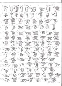 Dibujos a lápiz Animé (1)