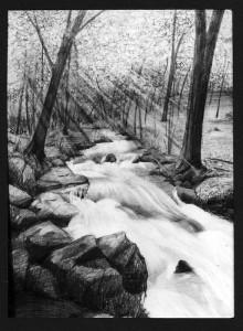 Dibujos a lápiz de paisajes (5)