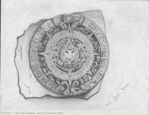 dibujos a lápiz aztecas (3)