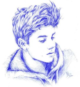 Dibujos a lápiz de Justin Bieber (5)