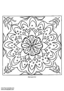 Dibujos a lápiz de mandalas (2)