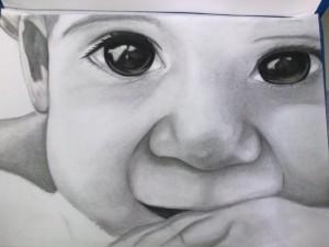 9 Dibujos a lápiz de bebés (2)