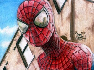 10 Dibujos a lapiz de Spiderman (1)