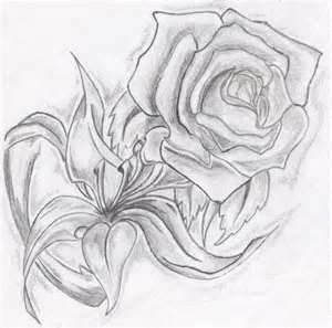 10 dibujos a lápiz de rosas para tatuajes (4)