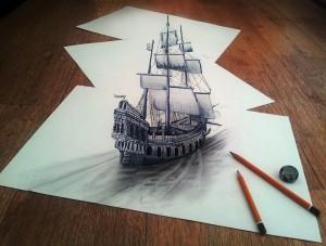 10 interesantes dibujos a lápiz en tercera dimensión (10)