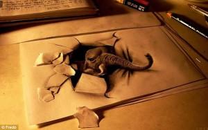 10 interesantes dibujos a lápiz en tercera dimensión (6)