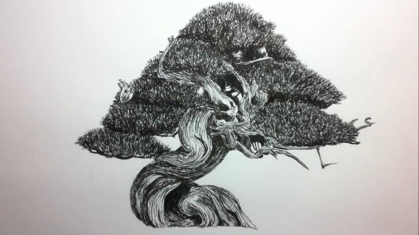 como-dibujar-un-bonsai-paso-a-paso